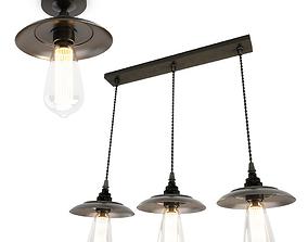 3D Industrial Pendant Lamps Reznor Mullan