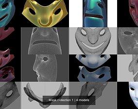 3D model masquerade Mask collection 1
