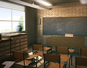 Class Room School 3D model