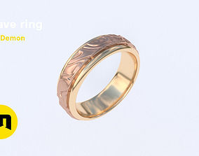 3D printable model Wave ring