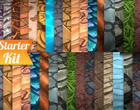 Hand Painted Textures Starter Kit 3D asset