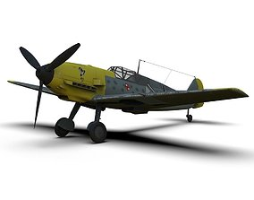 3D model Messerschmitt Bf 109 German ww2 Fighter