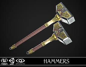 3D model Fantasy Hammers 05