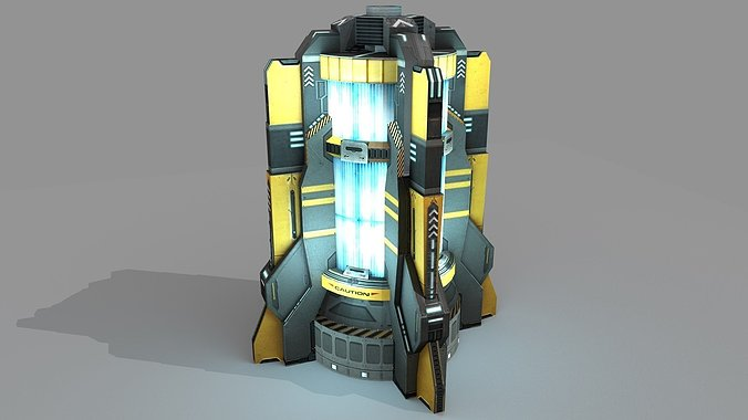 sci-fi-power-generator-3d-model-low-poly