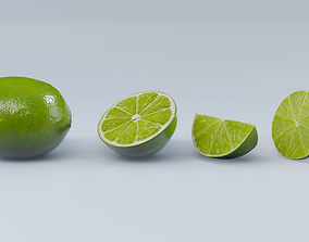 game-ready Lime pack PBR 3D model