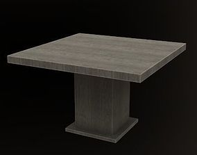 Rustic Wooden Dining Table Real Life Based PBR 3D model