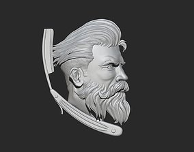 3D print model Barber Shop Logo