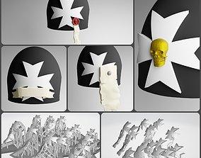 3D print model 14x Black Templars Space Marine Shoulderpad