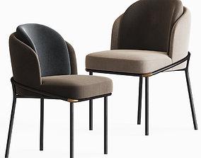 Fil Noir Dining Chair Minotti 3D