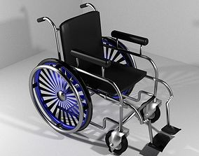 3D Hospital Furniture Wheelchair