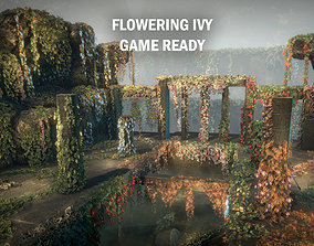 Flowering ivy 3D asset
