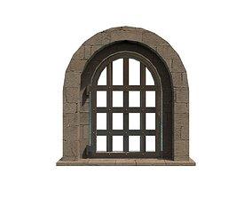 3D model medieval metal door