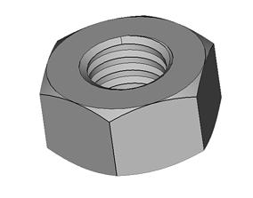 hobby 3D print model hexagon nut