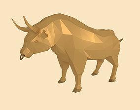 3D asset Low Poly Cartoon Bull