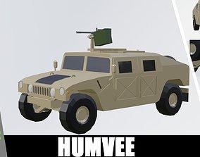 3D asset HUMVEE armoured low poly