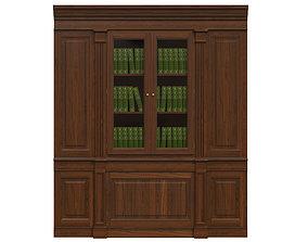 3D model Built-in bookcase 1100