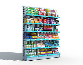 Drugstore Pharmacy Shelf 3D model