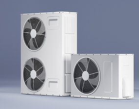 3D asset Sample Model of Split air conditioner outdoor 2