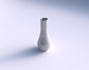 Vase curved 2 with fibers smooth inside 3D print model