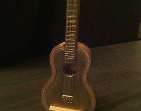 Guitar souvenir-box 3D print model