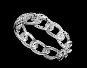 bracelet panther gold 3D print model