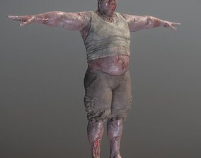 Rigged Heavy Zombie 3D model