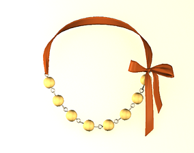 3D asset game-ready Necklace isolated
