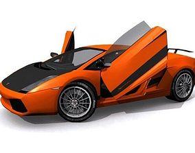 3D asset Lamborghini Gallardo Superleggera