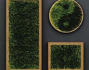 Yin and Yang stabilized moss 3D model