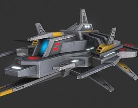 sky ship attack z001 3D model