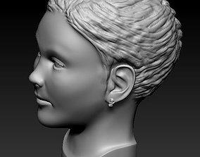 3D print model Little girl head