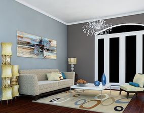 3D High def Classic living Room 7 model