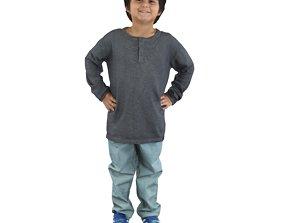 No477 - Kid Standing 3D model