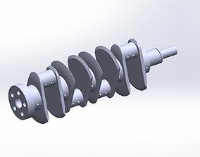 Engine Crank-Shaft 3D model