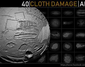 3D asset Zbrush - Cloth Damage Alphas
