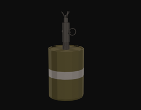 Bouncing Betty S-Mine Low Poly 3D asset