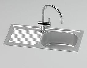 3D model Silver Sink Tap A+