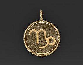 Zodiac Sign Capricorn Pendant 3D print model