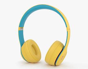 Beats Solo 3 Wireless Yellow 3D