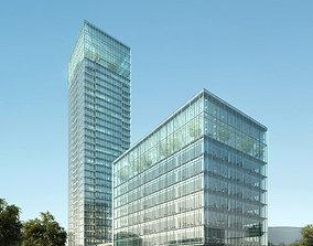 3D model Skyscraper Office Building 011