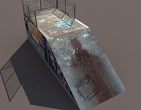 Half Pipe Low Poly 3d Model low-poly