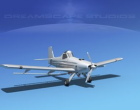 3D model EMB-202 Cropduster Bare Metal