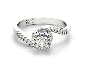 ring cad thin band engagement ring 3dm file