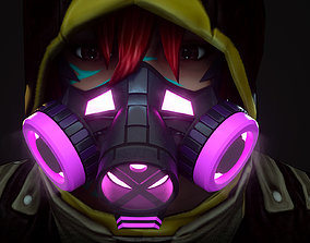 Gas mask protection isolated equipment armor Hard 3D