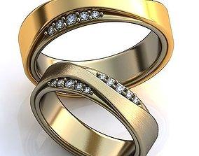 jewelry rings Gold Metal Rings 3D model