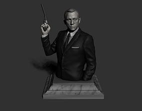 3D printable model 007 James Bond Daniel Craig