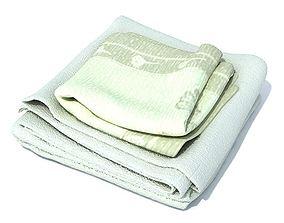 Green Towels Set 3D