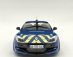 gendarmerie Renault Megane RS security 3D model
