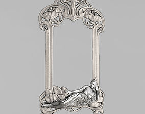 Frame for a mirror in the style of 3D printable model