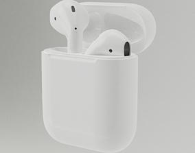 3D model earphone Apple Airpods
